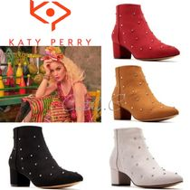 Katy Perry Casual Style Blended Fabrics Plain Block Heels Party Style
