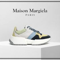 Maison Margiela Rubber Sole Suede Leather Low-Top Sneakers