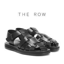 The Row Platform Casual Style Leather Platform & Wedge Sandals