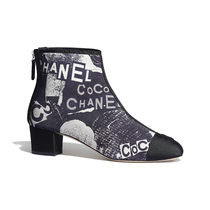 CHANEL ICON Flower Patterns Monogram Plain Toe Casual Style
