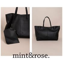 mint&rose. Casual Style Leather Totes