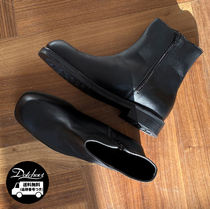 ASCLO Street Style Plain Leather U Tips Boots
