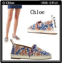Chloe Paisley Round Toe Rubber Sole Slip-On Shoes