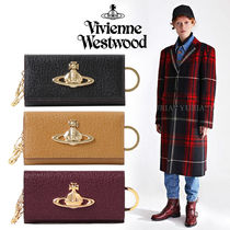 Vivienne Westwood Unisex Plain Leather Logo Keychains & Bag Charms