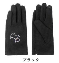 Agatha Wool Plain Logo Touchscreen Gloves