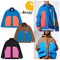 AWAKE NY Short Unisex Street Style Collaboration Oversized Coats