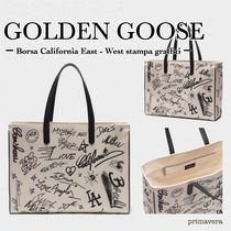 Golden Goose Casual Style Canvas A4 2WAY Leather Totes