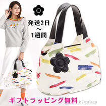 MARY QUANT Flower Patterns Casual Style Office Style Totes