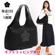 MARY QUANT Flower Patterns Casual Style Plain Office Style Totes