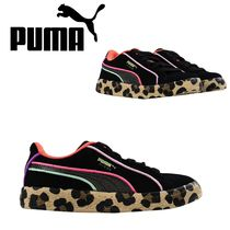 PUMA SUEDE Street Style Collaboration Kids Girl Sneakers