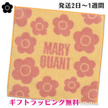 MARY QUANT Flower Patterns Cotton Logo Handkerchief