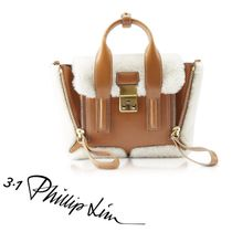 3.1 Phillip Lim Casual Style 2WAY Plain Leather Party Style Elegant Style
