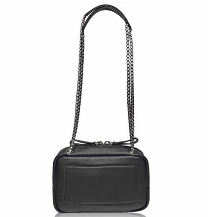 Casual Style Lambskin Plain Leather Crossbody Shoulder Bags