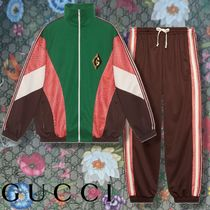 GUCCI 【GUCCI】 Zip jacket with G rhombus patch & tack bottoms