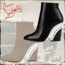 Christian Louboutin Plain Leather Wedge Boots