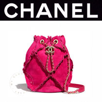 CHANEL MATELASSE Casual Style Suede Blended Fabrics Street Style 2WAY Chain