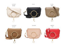 See by Chloe Plain Leather Office Style Elegant Style Shoulder Bags