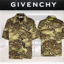 GIVENCHY Camouflage Street Style Cotton Short Sleeves Shirts