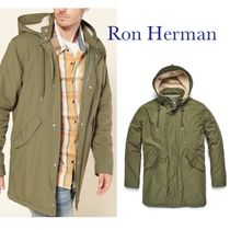 Ron Herman Unisex Street Style Plain Long Parkas