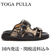 TOGA Open Toe Platform Casual Style Leather