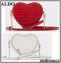 ALDO Heart Faux Fur 2WAY Chain Plain Other Animal Patterns