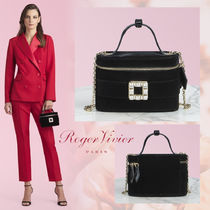 Roger Vivier Blended Fabrics Vanity Bags 2WAY Plain Party Style