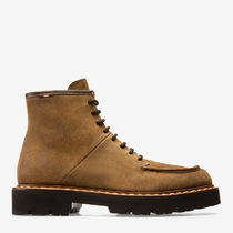 BALLY Plain Toe Suede Street Style Plain Engineer Boots
