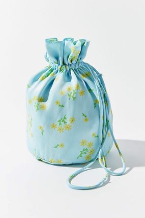 Flower Patterns Casual Style Bag in Bag Party Style Purses