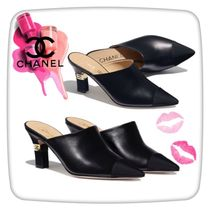 CHANEL Casual Style Street Style Plain Leather Party Style
