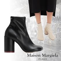 Maison Margiela Plain Leather Ankle & Booties Boots