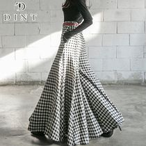 DINT Gingham Casual Style Street Style Plain Cotton Long Pants