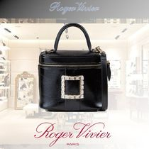 Roger Vivier Casual Style Blended Fabrics 2WAY Plain Leather