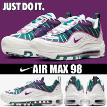 Nike AIR MAX 98 Platform Round Toe Casual Style Unisex Faux Fur
