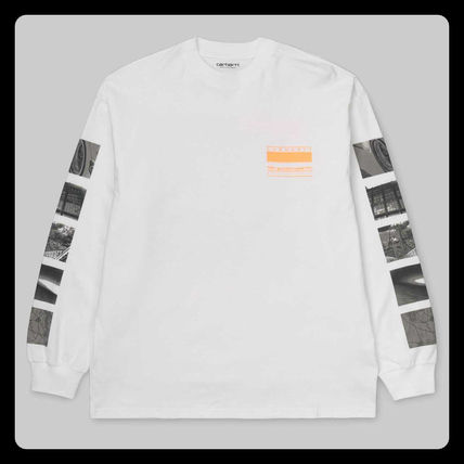 Carhartt Long Sleeve Crew Neck Unisex Street Style Long Sleeves Cotton 7