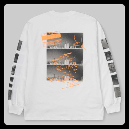 Carhartt Long Sleeve Crew Neck Unisex Street Style Long Sleeves Cotton 8