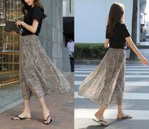 Leopard Patterns Chiffon Skirts