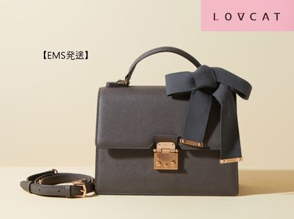 Casual Style 2WAY Leather Office Style Shoulder Bags
