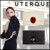 Uterque Casual Style Lambskin 2WAY Chain Leather Party Style
