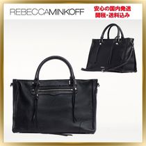 Rebecca Minkoff Casual Style 2WAY Plain Leather Shoulder Bags