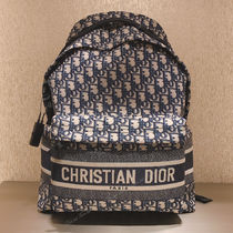 Christian Dior DIOR OBLIQUE Casual Style Unisex Elegant Style Logo Backpacks