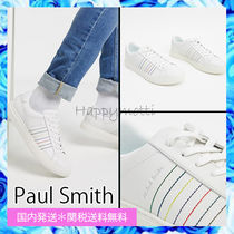 Paul Smith Stripes Plain Leather Sneakers