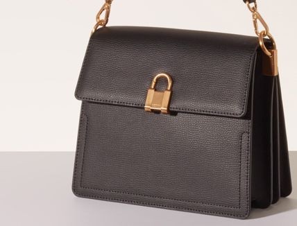 Casual Style Leather Office Style Shoulder Bags