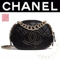 CHANEL MATELASSE Casual Style Blended Fabrics Studded Street Style 2WAY Chain