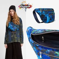 Desigual Flower Patterns Camouflage Casual Style 2WAY Hip Packs
