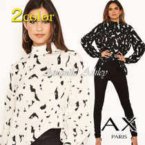 AXPARIS Long Sleeves Party Style Elegant Style Shirts & Blouses