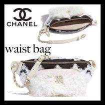 CHANEL Casual Style Lambskin Plain Party Style Formal Style
