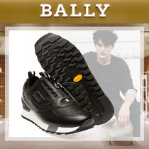 BALLY Street Style Plain Leather Sneakers