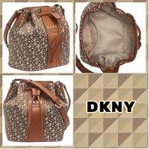 DKNY Casual Style Faux Fur Party Style Purses Office Style