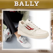 BALLY Street Style Bi-color Plain Leather Sneakers