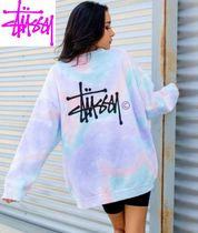 STUSSY Crew Neck Tie-dye Long Sleeves Cotton Oversized